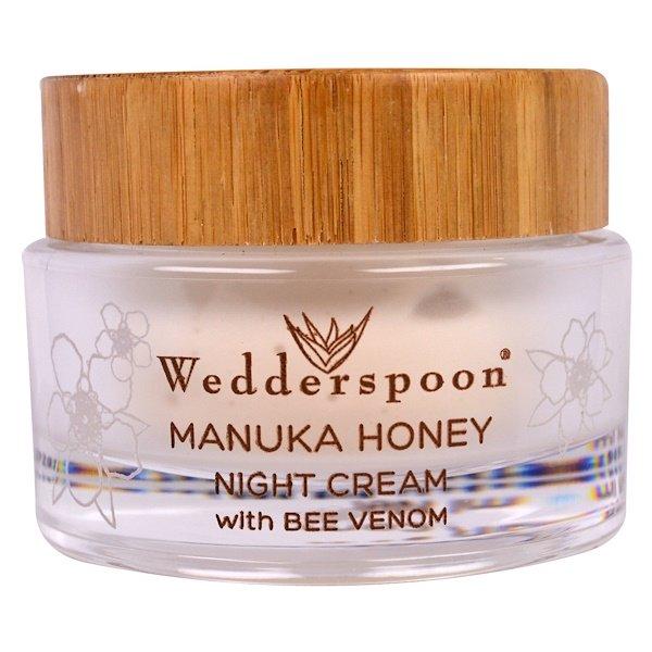 Wedderspoon, Manuka Honey Night Cream with Bee Venom, 1.7 fl oz (50 ml)
