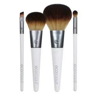 EcoTools, On The Go Style Brush Set, 4 Piece Set & Dual Pocket Case