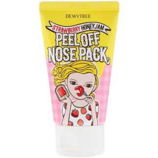 Dewytree, 1 Step Nose Care, Peel Off Nose Pack, Strawberry Honey Jam, 70 ml