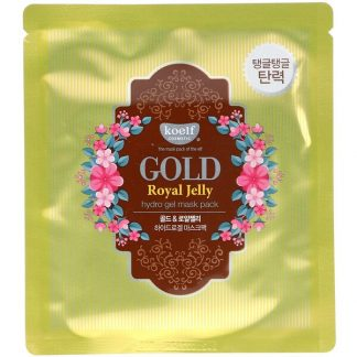 Koelf, Gold Royal Jelly Hydro Gel Mask Pack, 5 Sheets, 30 g Each