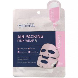 Mediheal, Air Packing, Pink Wrap Mask, 5 Sheets, 0.67 fl. oz (20 ml) Each