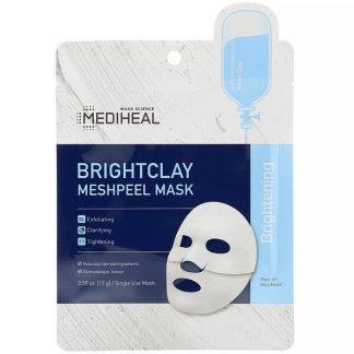 Mediheal, Brightclay, Meshpeel Mask, 5 Sheets, 0.59 oz (17 g) Each