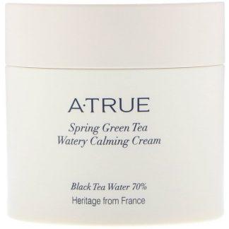 ATrue, Spring Green Tea Watery Calming Cream, 2.82 oz (80 g)