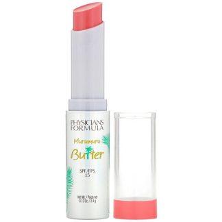 Physicians Formula, Murumuru Butter Lip Cream, SPF 15, Flamingo Pink, 0.12 oz (3.4 g)