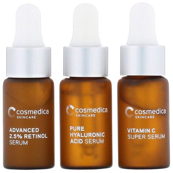 Cosmedica Skincare, Essential Serum Minis, 3 Piece Kit