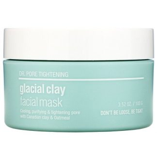 Skin & Lab, Dr. Pore Tightening, Glacial Clay Facial Mask, 3.52 oz (100 g)