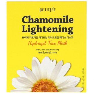 Petitfee, Chamomile Lightening, Hydrogel Face Mask, 5 Sheets, 1.12 oz (32 g) Each