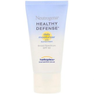 Neutrogena, Healthy Defense, Daily Moisturizer with Sunscreen, Broad Spectrum SPF 50, 1.7 fl oz (50 ml)