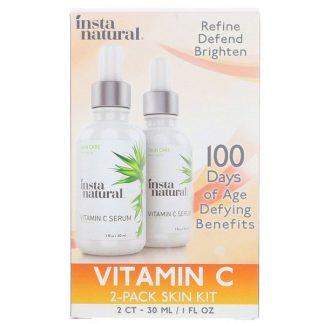 InstaNatural, Vitamin C Serum 2-Pack Skin Kit, 2 Pack, 1 fl. oz (30 ml) Each