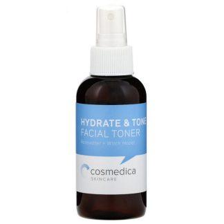 Cosmedica Skincare, Hydrate & Tone Facial Toner, Rosewater + Witch Hazel, 4 oz (120 ml)