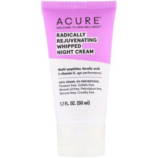 Acure, Radically Rejuvenating Whipped Night Cream, 1.7 fl oz (50 ml)