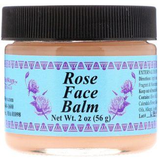 WiseWays Herbals, Rose Face Balm, 2 oz (56 g)