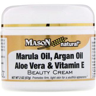 Mason Natural, Marula Oil, Argan Oil Aloe Vera & Vitamin E Beauty Cream, 2 oz (57 g)