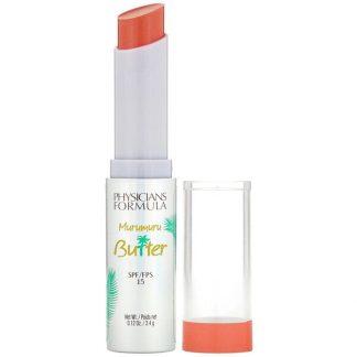 Physicians Formula, Murumuru Butter Lip Cream, SPF 15, Brazilian Sunset, 0.12 oz (3.4 g)