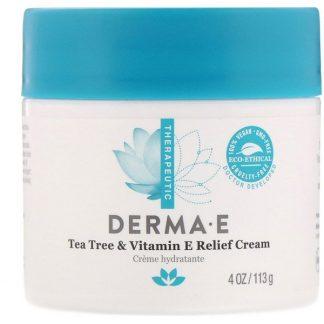 Derma E, Tea Tree & Vitamin E Relief Cream, 4 oz (113 g)