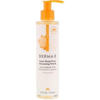Derma E, Acne Deep Pore Cleansing Wash, 6 fl oz (175 ml)