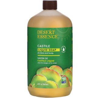 Desert Essence, Castile Liquid Soap with Eco-Harvest Tea Tree Oil, 32 fl oz (960 ml)