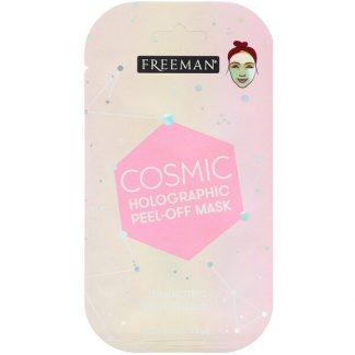 Freeman Beauty, Cosmic Holographic Peel-Off Mask, Luminizing Rose Quartz, 0.33 fl oz (10 ml)