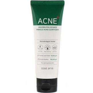 Some By Mi, AHA, BHA, PHA 30 Days Miracle Acne Clear Foam, 100 ml