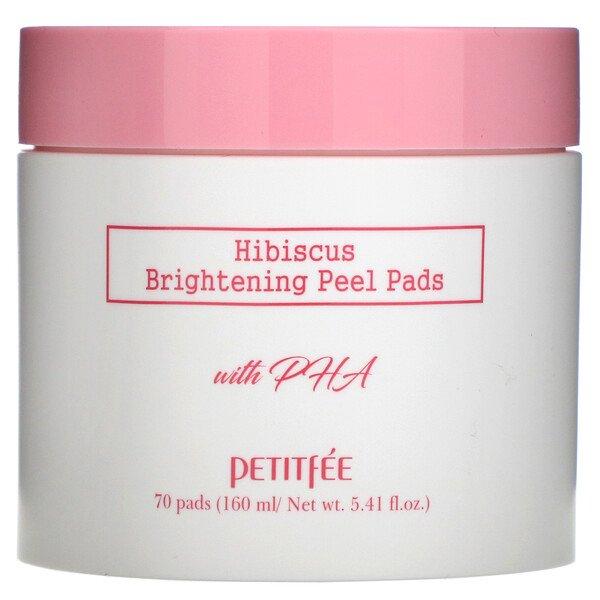 Petitfee, Hibiscus, Brightening Peel Pads, 70 Pads, 5.41 fl.oz (160 ml)