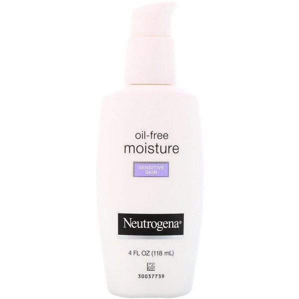 Neutrogena, Oil Free Moisture, Ultra-Gentle Facial Moisturizer, Sensitive Skin, 4 fl oz (118 ml)
