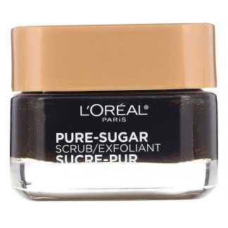 L'Oreal, Pure-Sugar Scrub, Resurface & Energize, 3 Pure Sugars + Coffee, 1.7 oz (48 g)