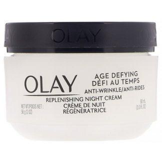 Olay, Age Defying, Anti-Wrinkle, Night Cream, 2 fl oz (60 ml)