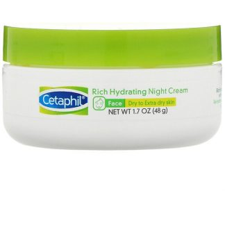 Cetaphil, Rich Hydrating Night Cream with Hyaluronic Acid, 1.7 oz (48 g)
