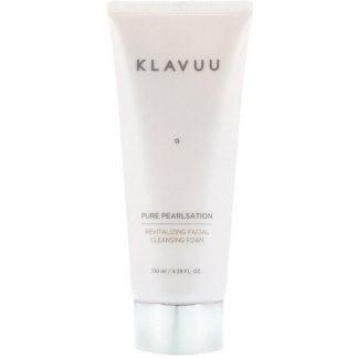 KLAVUU, Pure Pearlsation, Revitalizing Facial Cleansing Foam, 4.39 fl oz (130 ml)