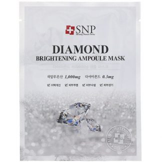 SNP, Diamond Brightening Ampoule Mask, 10 Sheets, 0.84 fl oz (25 ml) Each