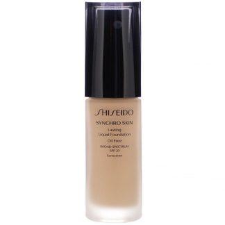 Shiseido, Synchro Skin, Lasting Liquid Foundation, SPF 20, Neutral 4, 1 fl oz (30 ml)