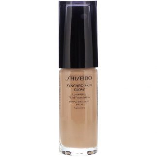 Shiseido, Synchro Skin Glow, Luminizing Fluid Foundation, SPF 20, Neutral 4, 1 fl oz (30 ml)