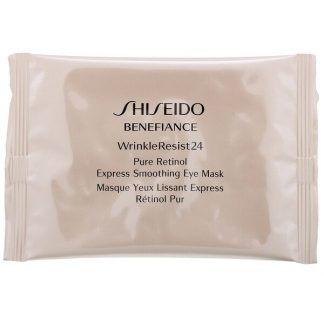 Shiseido, Benefiance, WrinkleResist24, Pure Retinol Express Smoothing Eye Mask, 12 Packets x 2 Sheets