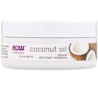 Now Foods, Solutions, Coconut Oil, Natural, 3 fl oz (89 ml)