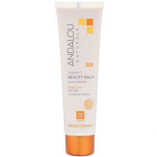 Andalou Naturals, BB Vitamin C Beauty Balm, Brightening, SPF 30, Sheer Tint, 2 fl oz (58 ml)