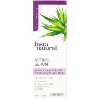 InstaNatural, Retinol Serum, Youth Restoring, 1 fl oz (30 ml)