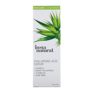 InstaNatural, Hyaluronic Acid Serum with Vitamin C, 2 fl oz (60 ml)