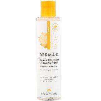 Derma E, Vitamin C Micellar Cleansing Water, Probiotics & Rooibos, 6 fl oz (175 ml)