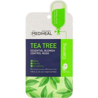 Mediheal, Tea Tree, Essential Blemish Control Mask, 1 Sheet, 0.81 fl oz (24 ml)