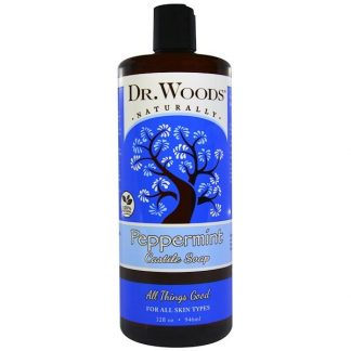 Dr. Woods, Peppermint Castile Soap, 32 fl oz (946 ml)