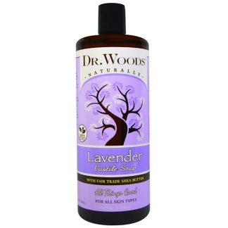 Dr. Woods, Lavender, Castile Soap, Fair Trade, Shea Butter , 32 fl oz (946 ml)
