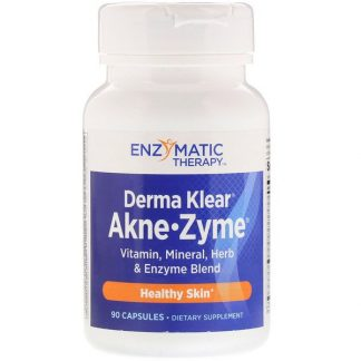 Enzymatic Therapy, Derma Klear Akne-Zyme, Healthy Skin, 90 Capsules