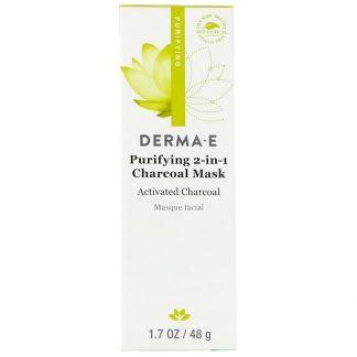 Derma E, Purifying 2-in-1 Charcoal Mask, 1.7 oz (48 g)