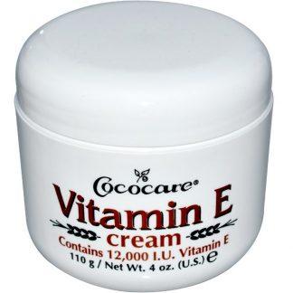 Cococare, Vitamin E Cream, 12,000 IU, 4 oz (110 g)