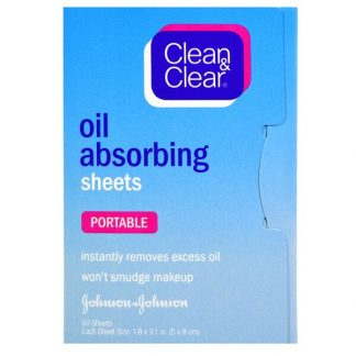 Clean & Clear, Oil Absorbing Sheets, Portable, 50 Sheets