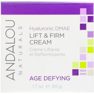 Andalou Naturals, Lift & Firm Cream, Hyaluronic DMAE, 1.7 oz (50 g)