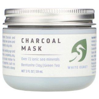White Egret Personal Care, Charcoal Mask, 2 fl oz (59 ml)