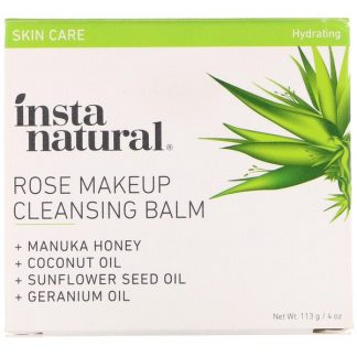 InstaNatural, Rose Makeup Cleansing Balm, Hydrating, 4 oz (113 g)