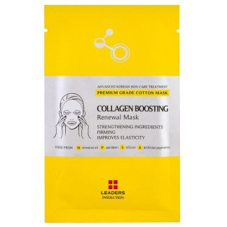 Leaders, Collagen Boosting Renewal Mask, 1 Sheet, 25 ml