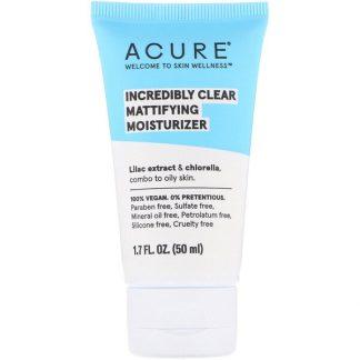 Acure, Incredibly Clear, Mattifying Moisturizer, 1.7 fl oz (50 ml)